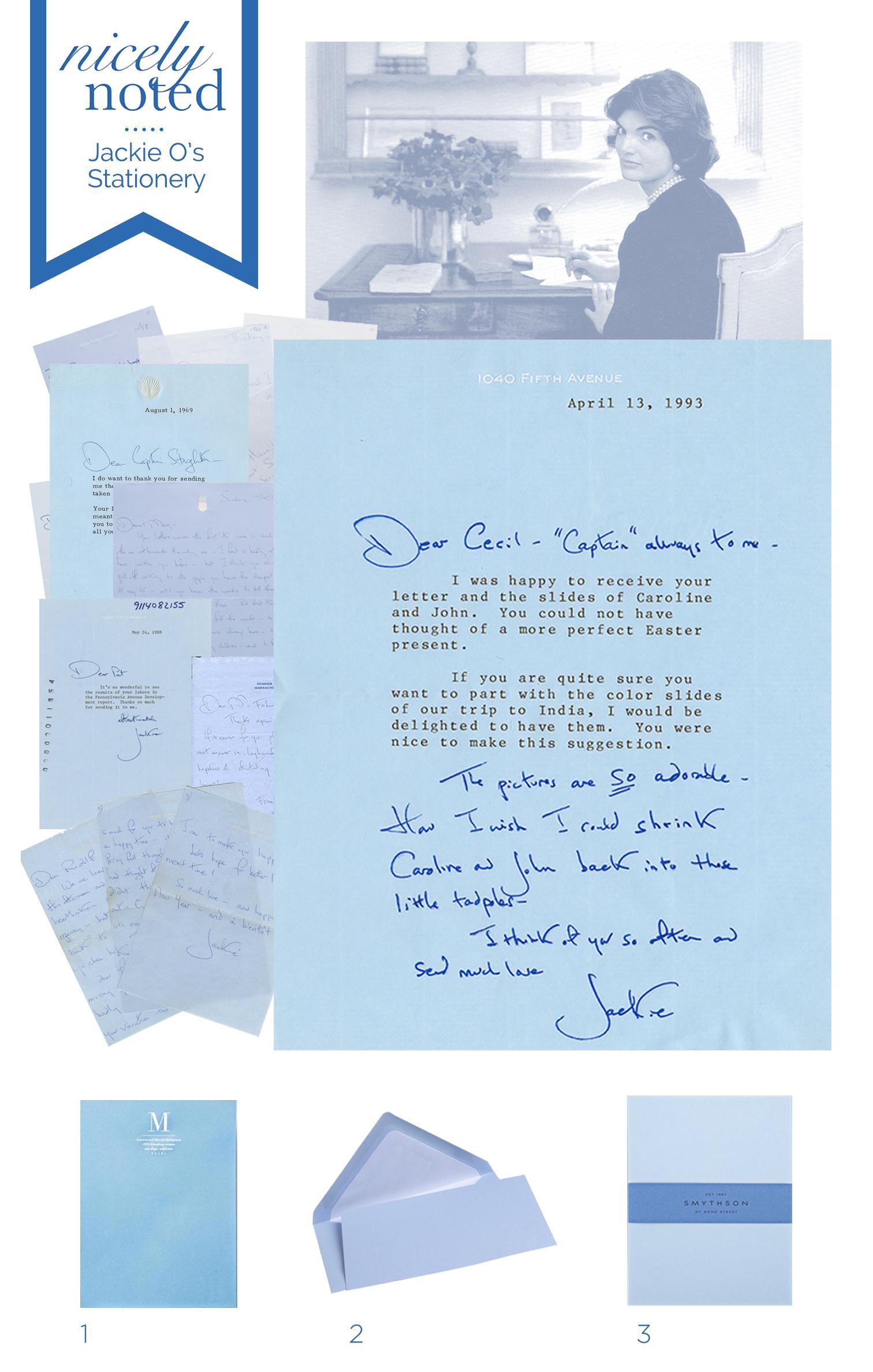 Jacqueline Kennedy Onassis' Stationery