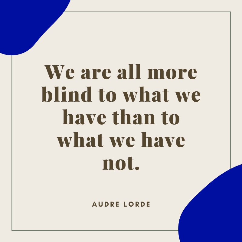 Audre Lorde Quote on Gratitude