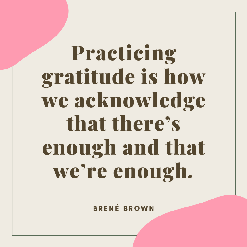 Brene Brown Quote on Gratitude